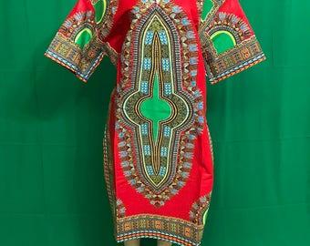 Dashiki Print Dresses