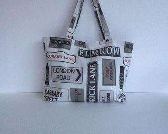London street name tote bag