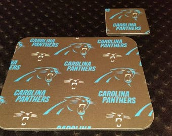 Carolina Panthers Mouse Pad and Coaster Set