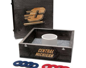 Central Michigan University Chippewas Washer Game Set Onyx Stained