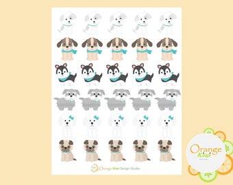 Cute Dog Stickers, Planner Stickers, Animal Stickers
