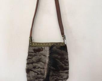 Pony fur bag, designer bag medium size.
