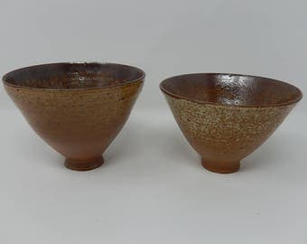 Pair of Ceramic Glass Bowls, Free Shipping!