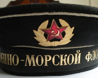 Peak-cap of the Soviet military seaman