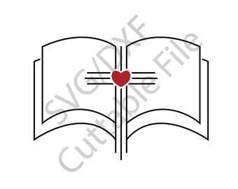 Bible SVG, Cross SVG, DXF File, htv, Vinyl Cuttable File