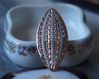 Large, Elegant and Beautiful silver 925, Italy in bronze tonring