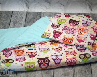 Bed linen with fillings owls