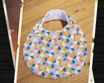 reversible cotton and Terry bib