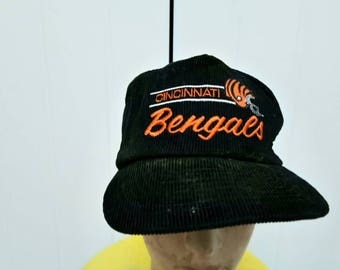 Rare Vintage CINCINATI BENGALS Corduroy One Size Fit All
