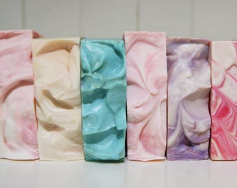 20 soap pack (4.00 each) handmade soap, australian soap, cocoa butter soap, shae scentials