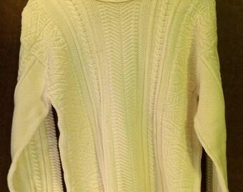 Vintage White Women's Sweater