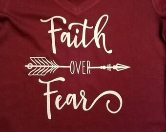 Faith over Fear, Faith, Arrow Shirts, Faith, tees