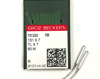 10 Pk. Groz-Beckert 151X7, TLX7, 60M Curved Serger Overlock Machine Needles