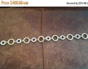 ON SALE Vintage 10kt Gold And Diamond Bracelet