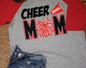 Cheer mom raglan - cheer mom shirt - cheer raglan - cheerleading shirt - cheerleader raglan - cheerleading raglan - cheerleader shirt