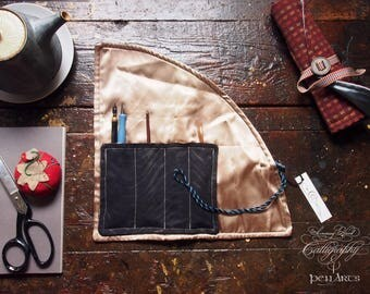 Calligraphy and Fountain Pen Wrap and Carrier
