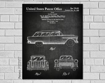 Chevy Nomad Patent Print - Chevrolet Nomad Decor - Chevy Art - Car Poster - Classic Car Wall Art - Station Wagon - Chevy Blueprint - VC421
