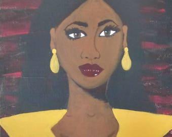 """Black woman art Prints/""""Light Eyes"""" 9x12 prints by Dionne Lee"""
