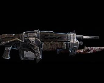 Retro Lancer Gears of War 3 cosplay prop