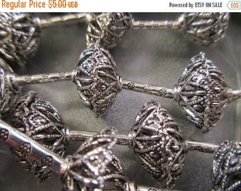 ON SALE 15% OFF 7 Pairs Caps / 6 Tubes Sliver Plated Bead