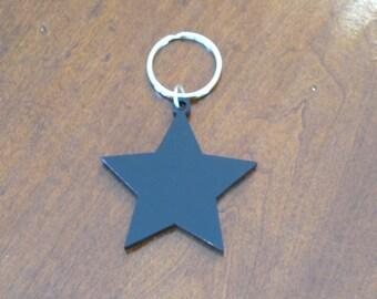 Black Shape Keychain