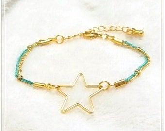 16k Gold Plated Brass , Lacquer Coated Brass Bracelet, Star Shaped, Special