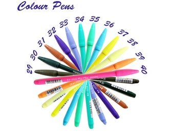 Colour Pens, Brush, Colourful, Painting, Stationery