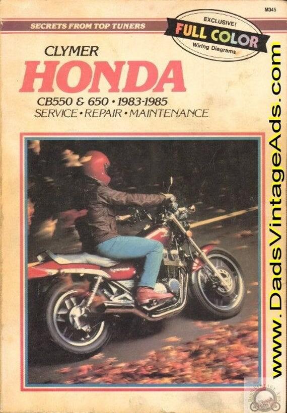 1983-1985 Honda CB550 & CB650 Clymer Service and Repair Manual #mm69