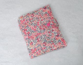 Rangement à barettes et elastiques en liberty wiltshire pois de senteur rose