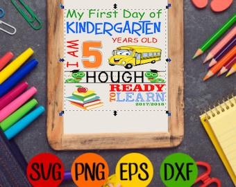 My first day of Kindergarten SVG
