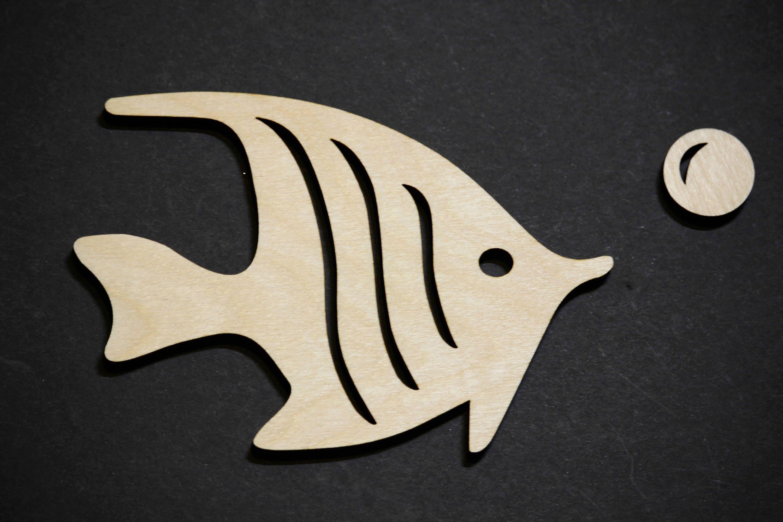 fish cutout shape angelfish cutout fish silhouette laser cut