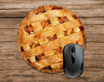 Apple Pie Mouse Pad, Food Mouse Pad, Round Mouse Pad, Funny Mouse Pad, Office Gift, Co-Worker Gift, Boss Gift, Student Gift