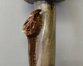 Walking Cane, Dragon Cane, Hand carved.