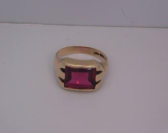 Man's Ruby Ring 10K Gold