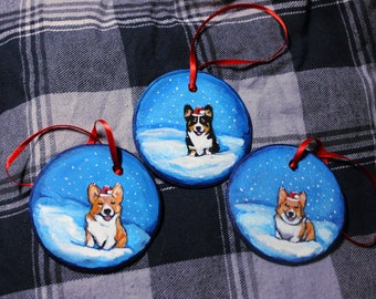 Custom Pet Portrait Christmas Ornaments