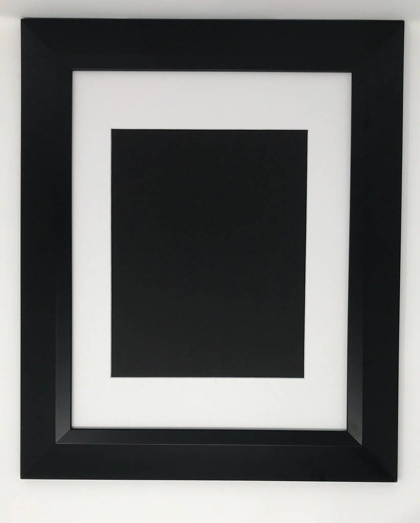 22x28 2 2 Black Beveled Contemporary Solid Wood Picture