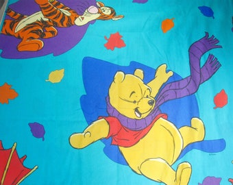 Winnie The Pooh Flat Sheet, Twin, Vintage Disney Sheet