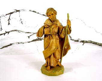 VINTAGE: 1991 - Fontanini Dep Italy Joseph - Depose Rubber Figurine - Spider Mark - Nativity Figurine Replacement - SKU 15-C2-00004201