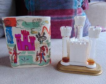 VINTAGE c1940 Lucien Lelong Castel (Castle) 4 x Perfumes Presentation