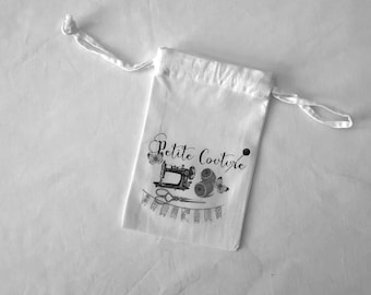 "White fabric bag ""Little sewing"""