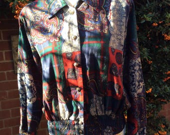 1980's Baroque Print Jacket