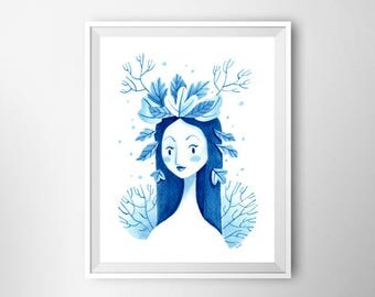 Blue Fairy - Print
