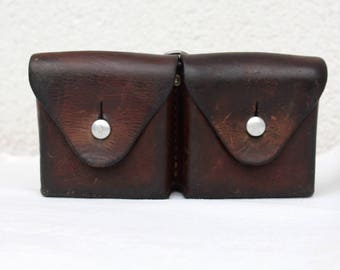 Swiss Army Leather Ammunition Bag, Beltbag from 1951 (Souboz)
