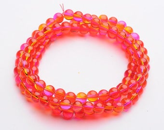 M* - 8 mm Glass Beads - Half and Half - Multiple Colors (1254)