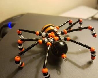 Beaded Spider- Halloween Striped