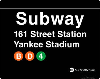 NYC Subway Station Stop 161st St. Yankee Stadium Mousepad