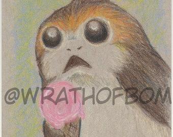 Star Wars: The Last Jedi Porg Fan Art Sketch Card 2