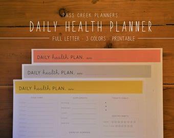 Health Planner - Health Tracker - Food Journal - Food Diary - Healthy Habits - Health and Wellness - Health Coach - Wellness Planner