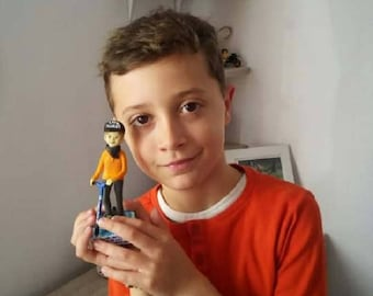 Children Figurines MiniMe for Birthday gift, Kids present, custom figurines sculpted from Fimo, Funny gifts