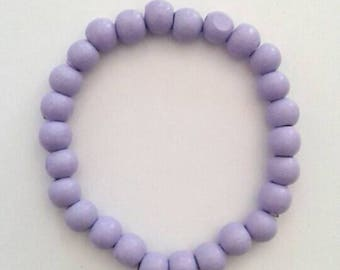 Light Purple/ Lilac Beaded Bracelet